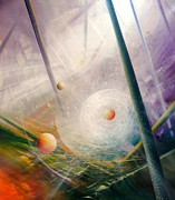 Macrocosm Paintings - SPHERE new lights by Drazen Pavlovic