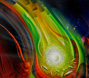 Macrocosm Paintings - SPHERE Qf72XL                 by Drazen Pavlovic