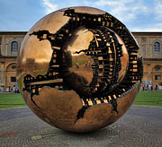 European Artwork Posters - Sphere Within Sphere Poster by Inge Johnsson