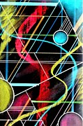 Gifts Pastels Originals - Spheres Grid Drawing by Dennis Staples