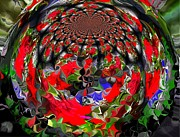 Jan Steadman-jackson Prints - Spherical Bloom Print by Jan Steadman-Jackson