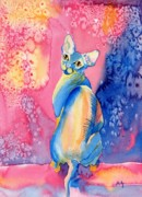 Sphynx Cat Paintings - Sphynx Cat 2 by Yvonne Carter