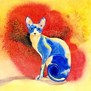 Sphynx Cat Paintings - Sphynx Cat 3 by Yvonne Carter