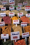 Variation Art - Spices and herbs on market stall by Sami Sarkis