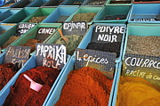 Tunisia Prints - Spices for sale in Tunisia Print by Sami Sarkis