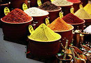Turkish Photos - Spices by John Rizzuto