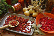 Chilli Prints - Spicy still life Print by Carlos Caetano