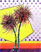 Florida Drawings - Spider Lilies by Danielle Scott