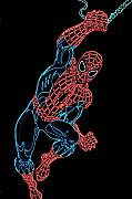 Neon Digital Art - Spider Man by DB Artist