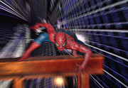Spider-man Prints - Spider Man in Action Print by Douglas Barnard