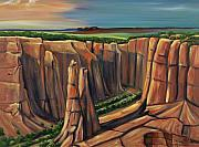 Counry Posters - Spider Rock Canyon de Chelly AR Poster by George Chacon