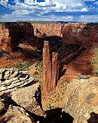 Spider Rock Framed Prints - Spider Rock Canyon De Chelly Arizona Framed Print by George Oze