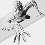 Spiderman Digital Art Prints - Spiderman Chrome Print by Anibal Diaz