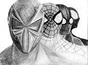 Spiderman Drawings Framed Prints - Spiderman Framed Print by Felix  Leer