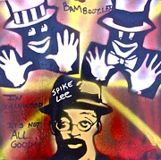 Free Speech Paintings - Spike Lee Bamboozled by Tony B Conscious