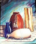 Water Jars Paintings - Spill Over Beethoven by Joan Gossett