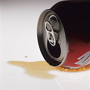 Wasted Posters - Spilt Cola Drink Poster by Kevin Curtis