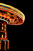 Amusement Ride Framed Prints - Spin In Oblivion Framed Print by Emily Stauring
