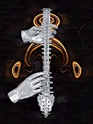 Physical Body Digital Art Framed Prints - Spine - Instrument of Life Framed Print by Joseph Ventura