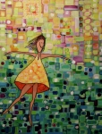 Joyous Paintings - Spinning by Donna Howard