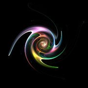 Spinning Digital Art - Spinning Galaxy by Stefan Kuhn