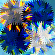 Meshed Digital Art Originals - Spinning Saw by Atiketta Sangasaeng
