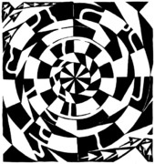 Optical Art Originals - Spinning Tunnel Maze by Yonatan Frimer Maze Artist