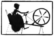 Wheel Drawings - Spinning Wheel by Patricia Montgomery