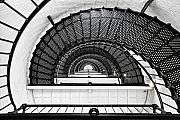 Spiral Staircase Metal Prints - Spiral Ascent Metal Print by Janet Fikar