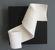 White Sculpture Prints - Spiral Print by Benoit Forest