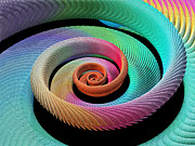 Fractal Geometry Photos - Spiral Fractal by Laguna Design