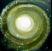 Cosmos Drawings Originals - Spiral galaxy by Bernard MORIN