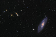 M106 Posters - Spiral Galaxy Messier 106 Poster by Roth Ritter