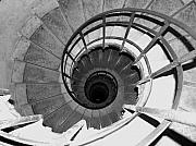 Spiral Staircase Posters - Spiral Staircase at the Arc Poster by Donna Corless