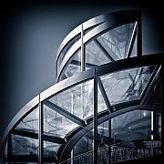 Metal Metal Prints - Spiral Staircase Metal Print by David Bowman