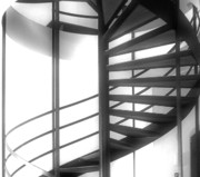 Seaman Posters - Spiral Staircase In Ethereal Light Poster by Lori Seaman