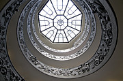 Vatican Photos - Spiral staircase in the Vatican Museums by Bernard Jaubert