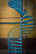 Ne Posters - Spiral Staircase Poster by Inge Johnsson