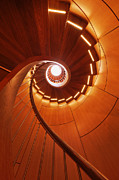 Architectural Detail Framed Prints - Spiral Staircase Framed Print by Jeremy Woodhouse