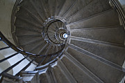 Architectural Detail Framed Prints - Spiral Staircase Framed Print by John Harper