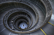 Vatican Photos - Spiral Staircase by Maico Presente
