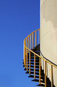 Spiral Staircase Photos - Spiral Staircase Of Palm Oil Storage Tank by Zuraisham
