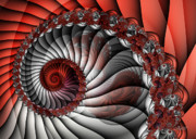 Duplication Prints - Spiral Stairs Print by Jutta Maria Pusl