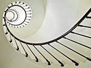 Staircase Railing Framed Prints - Spiral Framed Print by Susanne Bund