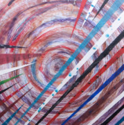 Precise Mixed Media Originals - Spiral Unto Thee by Nell Werner