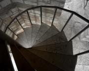 Spiral Staircase Photos - Spiraling Downward by Karen Musick