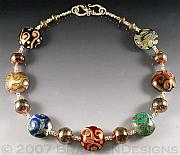 Colorful Jewelry - Spirals and Hollows by Laura Bracken