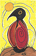 Spirit Greeting Cards Drawings Posters - Spirit Bird Poster by Carolyn L Schaefer