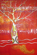 Boab Posters - Spirit Boab tree Poster by Gillian  Fahey