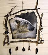 Hanging Sculptures - Spirit Catcher Arctic Series - Polar Bear by Sandi Baker